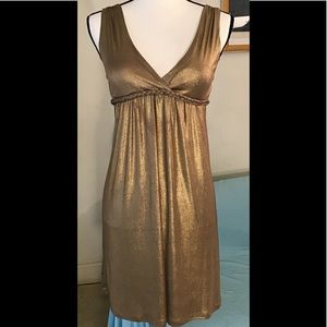 Rhapsody shiny gold dress with lining. S
